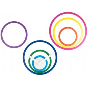 Hodiny s nalepovacími kruhmi 33cm - Obrázok č. 1