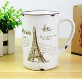 Porcelánový retro hrnček - Paris,