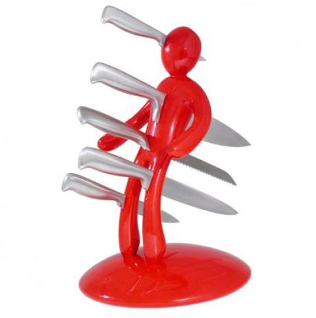 Stojan na nože Hero - červený - Obrázok č. 1