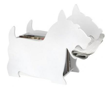 Stojan na noviny BALVI Dog biely - Obrázok č. 1