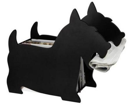 Stojan na noviny BALVI Dog čierny - Obrázok č. 1