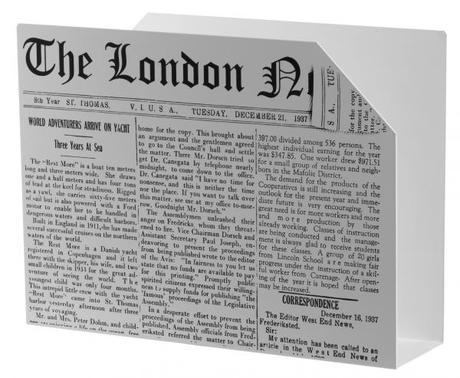 Stojan na noviny Balvi London NEWS - Obrázok č. 1