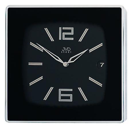 HC 04 - Luxusné nerezove nástenne hodiny 30cm - Obrázok č. 1