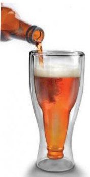Pohár na pivo Pivová fľaša 300ml - Obrázok č. 1