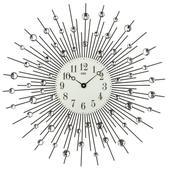 Nástenné hodiny 9380 AMS Black 39cm,