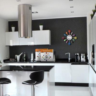 Hodiny do kuchyne farebné 36cm - Obrázok č. 2