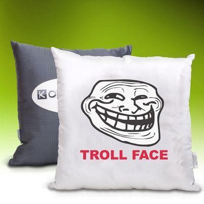 Meme vankúšik Troll Face - Obrázok č. 1