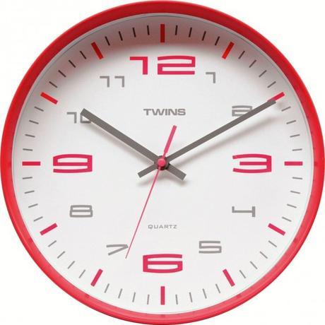 Twins hodiny 10512 červene 30cm - Obrázok č. 1