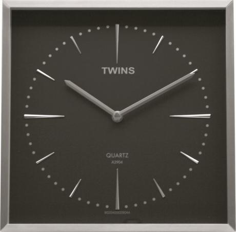 Twins hodiny 2904 tmavošedé 30cm - Obrázok č. 1