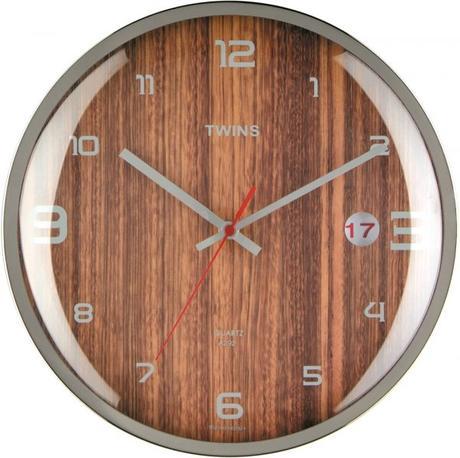 Twins hodiny s dátumom 292 wenge 30cm - Obrázok č. 1