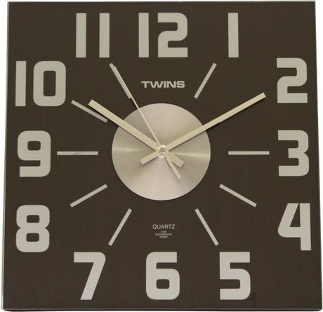 Twins hodiny na stenu 468 wenge 32cm - Obrázok č. 1