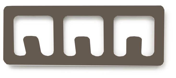 Vešiak BALVI Tetris 3, šedý - Obrázok č. 1