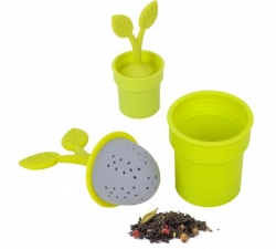 Silikonové čajové sitko BALVI Flower Pot - Obrázok č. 1