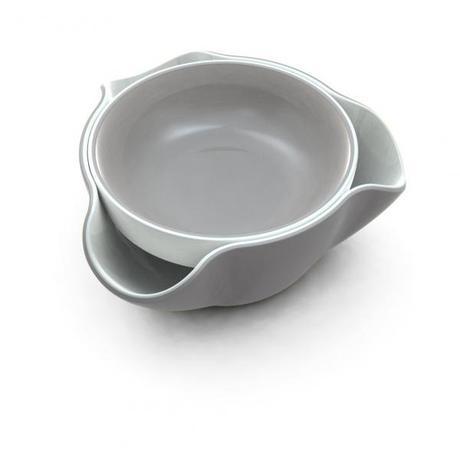 Double Dish - dvojitá miska, šedá 18cm  - Obrázok č. 1