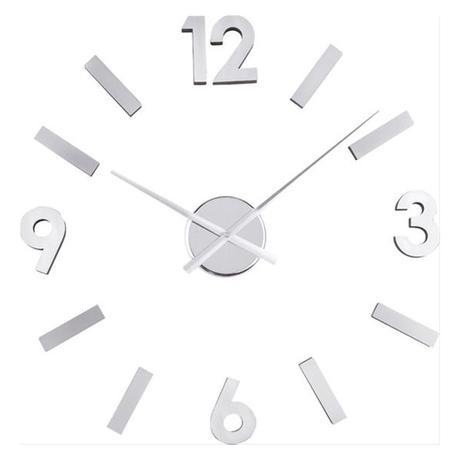 Nalepovacie nástenné hodiny Balvi Numbers Steel 60 - Obrázok č. 1