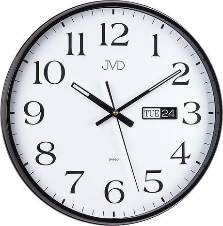 Nástenné hodiny JVD sweep HP671.2 36cm čierne - Obrázok č. 1