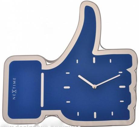 Nástenné hodiny 5185bl Nextime Mini Thumbs up 21cm - Obrázok č. 1