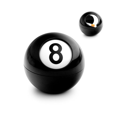Uzatvárateľný popolník BALVI 8-ball - Obrázok č. 1