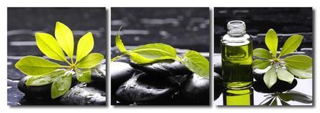 3-dielny obraz na plátne 3x20x20cm Zen stones and  - Obrázok č. 1
