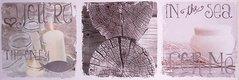 Obraz na plátne 30x90cm Candle & Wood bielo-šedý,