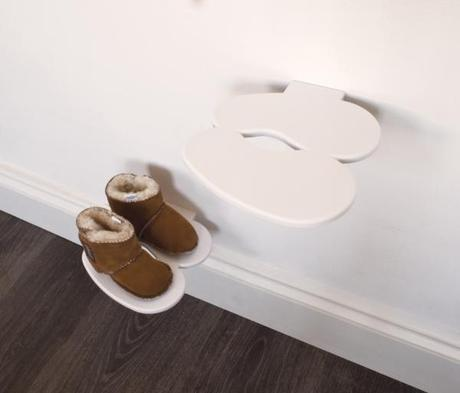 Polička na detské topánky J-ME Footprint, biela - Obrázok č. 1