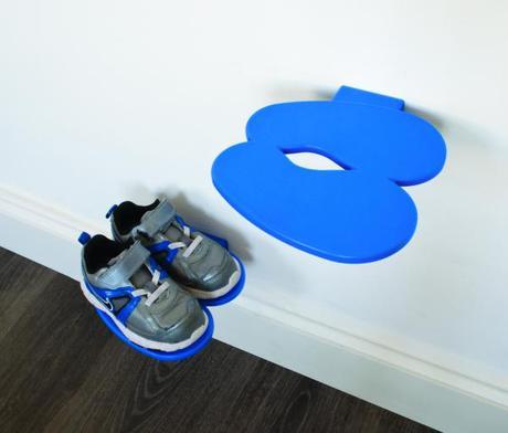 Polička na detské topánky J-ME Footprint, modrá - Obrázok č. 1