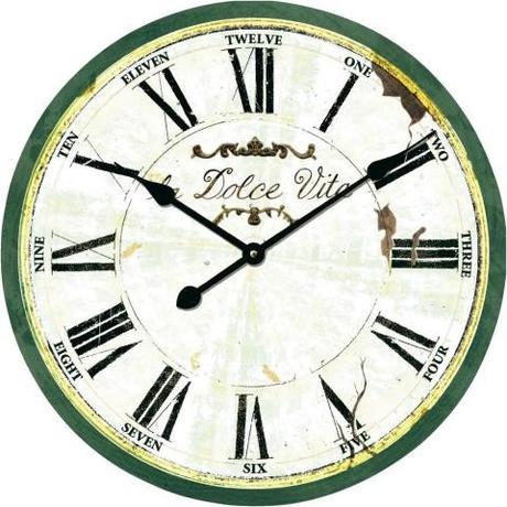 Nástenné retro hodiny Techno Line, dolce vita 50cm - Obrázok č. 1