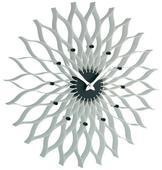 Nástenné hodiny TFA Flower, biele 50 cm,