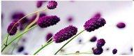 Obraz na plátne 38x100cm KVETY fialovo-biely,