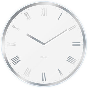 Nástenné hodiny KA5424WH biele Karlsson 60cm - Obrázok č. 1