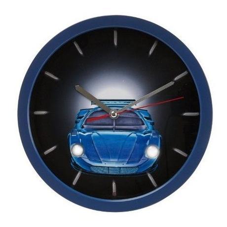 Detské hodiny auto SY100930BL Karlsson 28cm - Obrázok č. 1