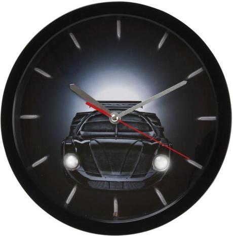 Detské hodiny auto SY100930Bk Karlsson 28cm - Obrázok č. 1
