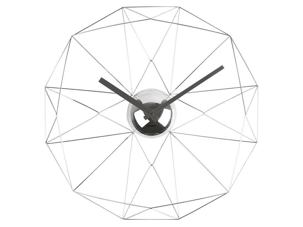 Nástenné hodiny Karlsson 5362ch Diamond 38cm - Obrázok č. 1