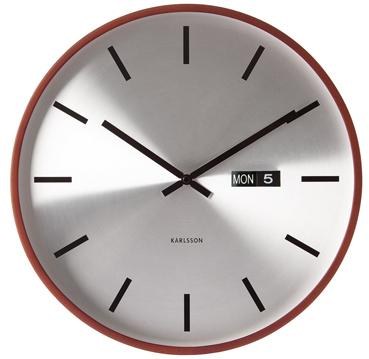 Nástenné hodiny 5461 Karlsson, Steel Date, 38cm - Obrázok č. 1
