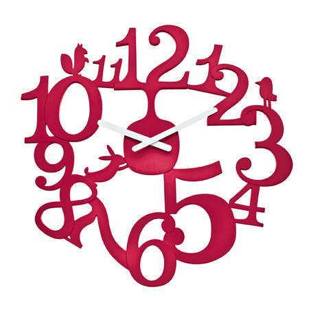 Nastenne hodiny pip malinová, 45cm - Obrázok č. 1