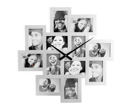 Hodiny s 12 fotorámikmi Present Time silver 65cm - Obrázok č. 1