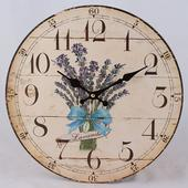Nástenné hodiny HLC, LAVANDE, 34cm,