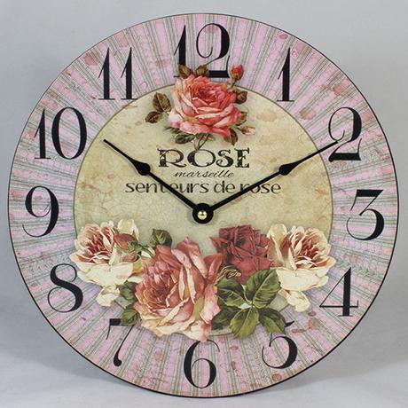 Nástenné hodiny HLC, Rose 2, 30cm - Obrázok č. 1
