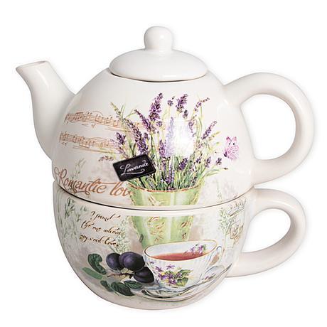 Čajník so šálkou Romantic, 0,8L - Obrázok č. 1
