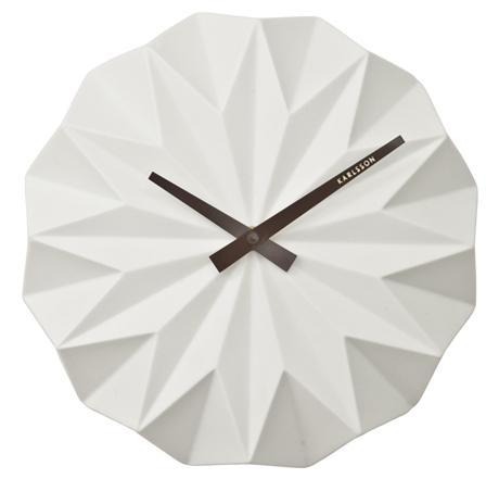 Nástenné hodiny KA5531WH Karlsson, Origami, 27cm - Obrázok č. 1