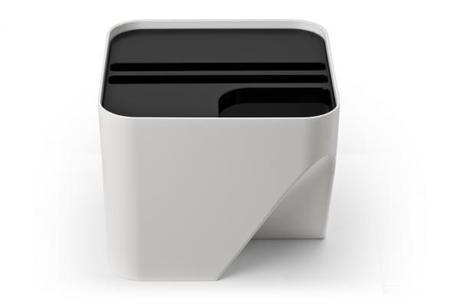 Stohovateľný odpadkový kôš Qualy Block 20, biely - Obrázok č. 1