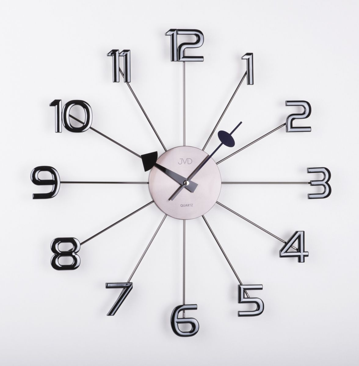 Dizajnové nástenné hodiny JVD HT072.1 antracit 49c - Obrázok č. 1