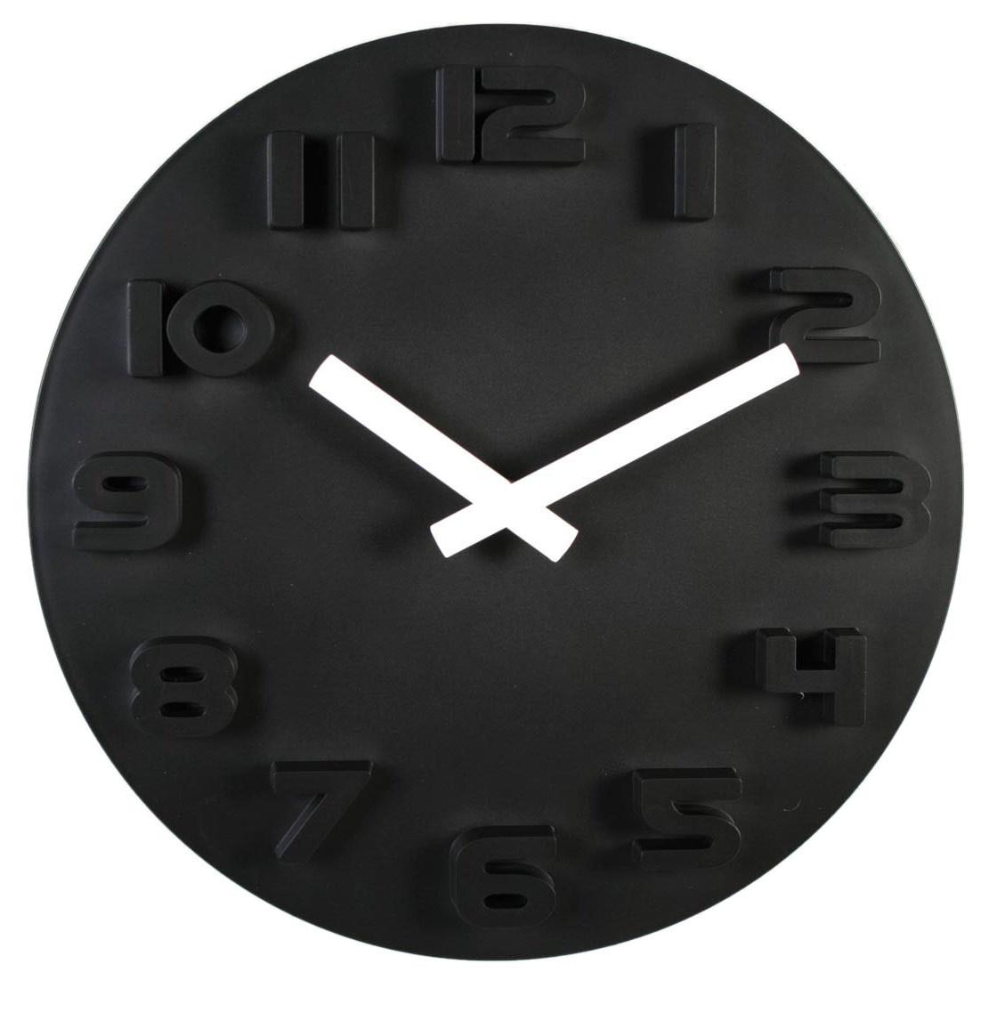 Nástenné hodiny Black & White, 30cm - Obrázok č. 1