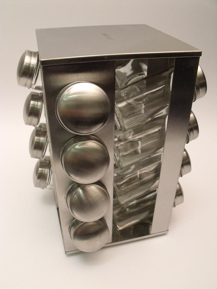 Nerezový stojan na koreničky, Kinghoff, 17-dielný - Obrázok č. 1