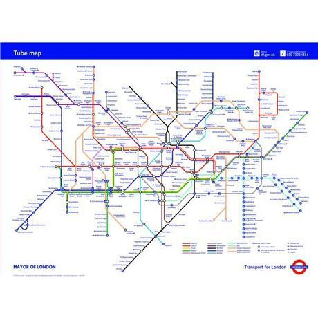 Fototapeta, Metro Mapa, 315 x232cm - Obrázok č. 1