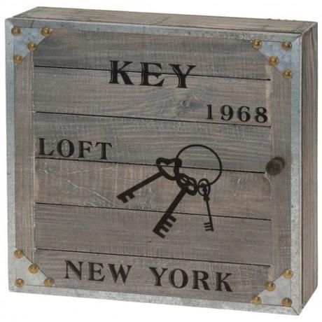 """Nostalgická skrinka na kľuče """"New York 1968 - Obrázok č. 1"""