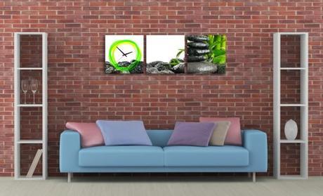 3 dielne obrazové hodiny Zen, 35x105cm - Obrázok č. 1