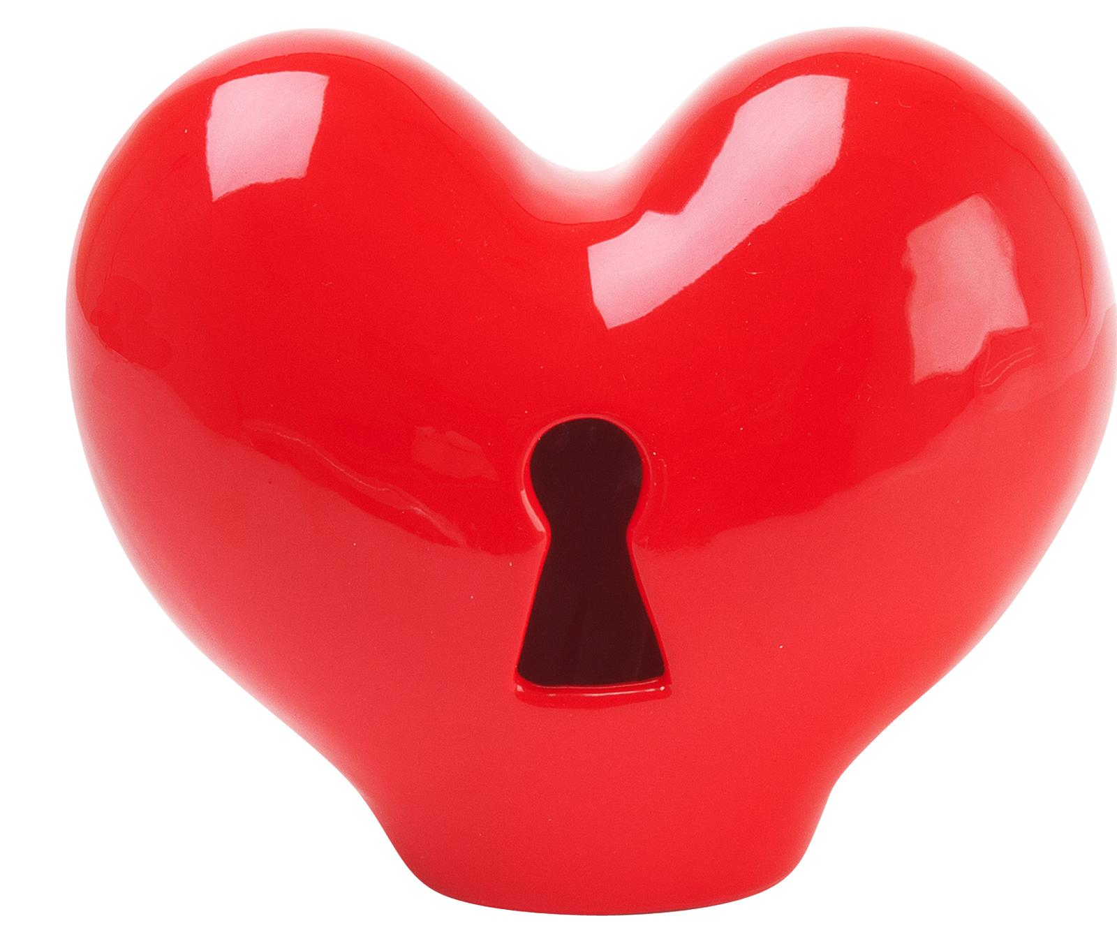 Pokladnička - srdce na kľúčik, 15cm - Obrázok č. 1