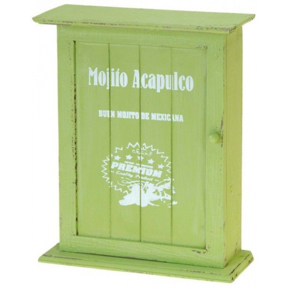 Nostalgická skrinka na kľúče, zelená - Obrázok č. 1