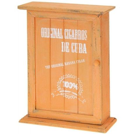 Nostalgická skrinka na  kľúče, oranžová - Obrázok č. 1